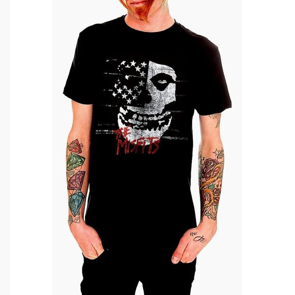 16a178da1ff87 Misfits USA Flag punk rock T-shirt M L XL NWT NWT